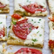 5 Ingredient Tomato Burrata Tart