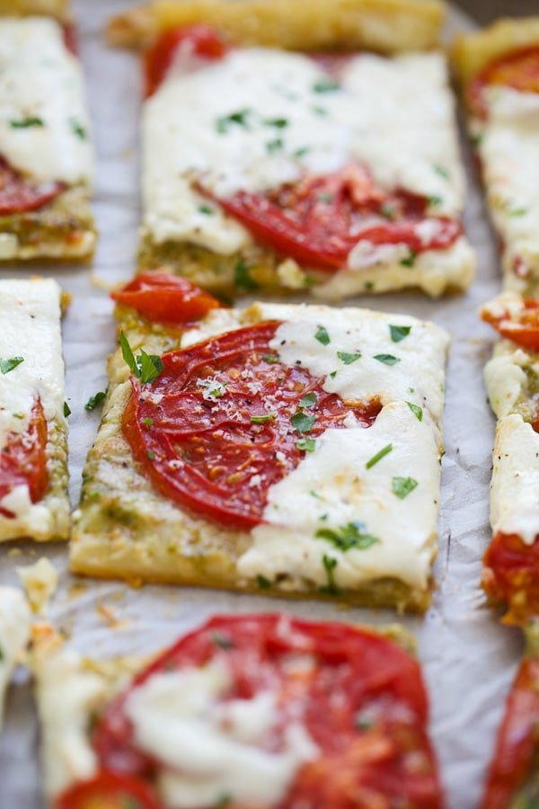 5 Ingredient Tomato Burrata Tart - Impressive and so easy to prepare.
