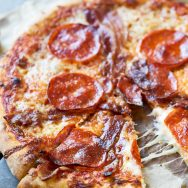 Best Pepperoni & Bacon Pizza with Truffle Honey