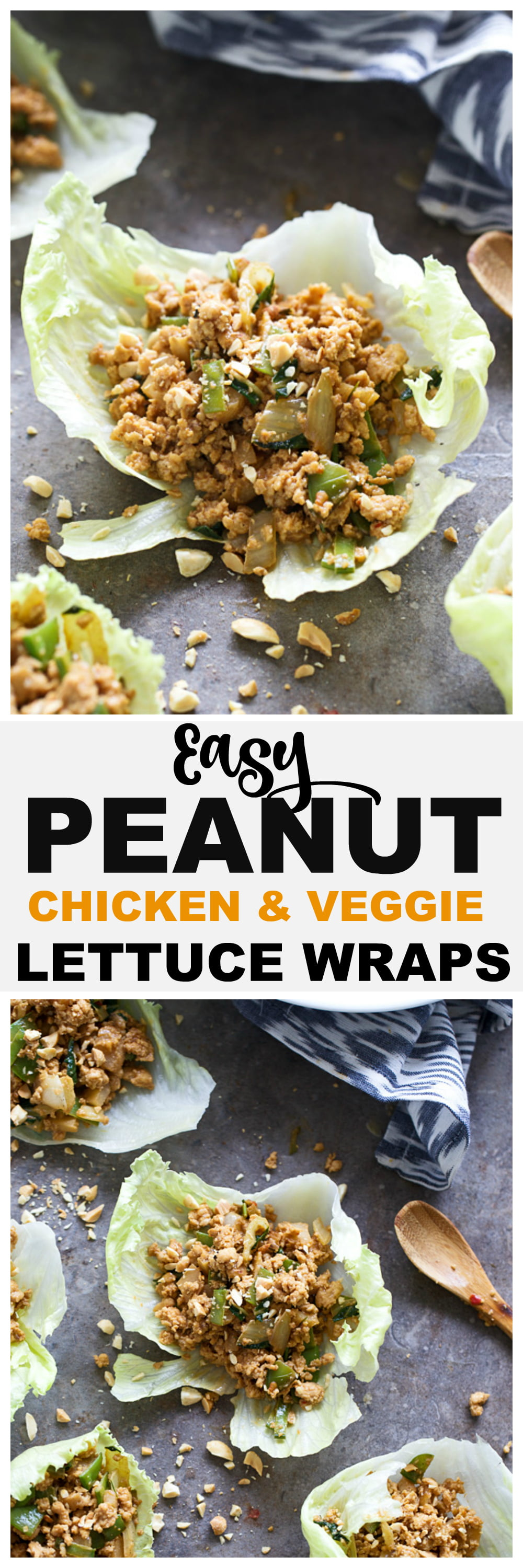 Better than Peanut Chicken & Veggie Lettuce Wraps