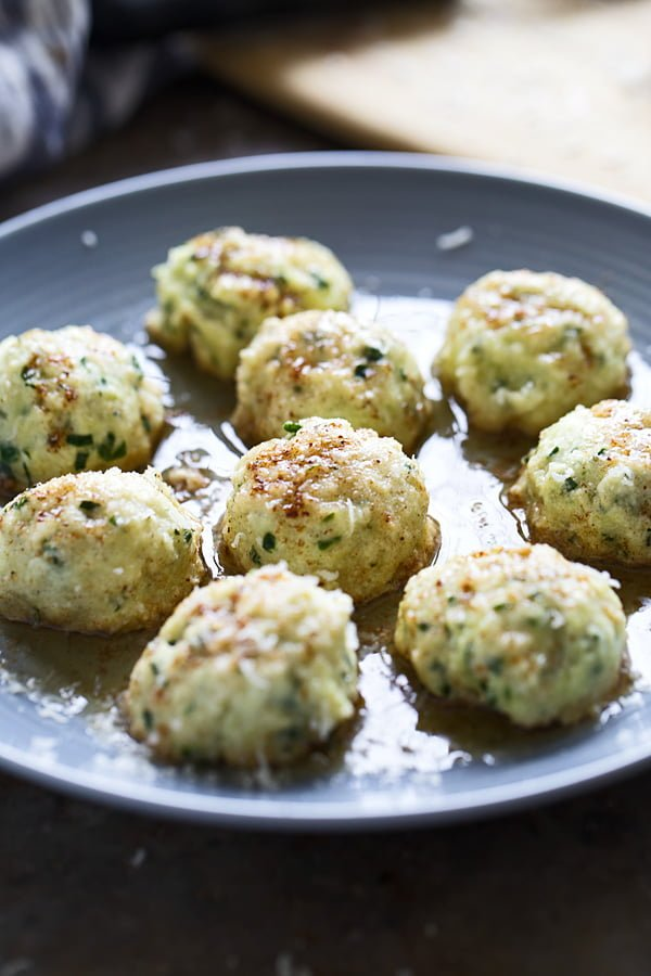 Spinach & Ricotta Gnudi with Brown Butter - Light, pillowy and melt-in-your-mouth delicious!