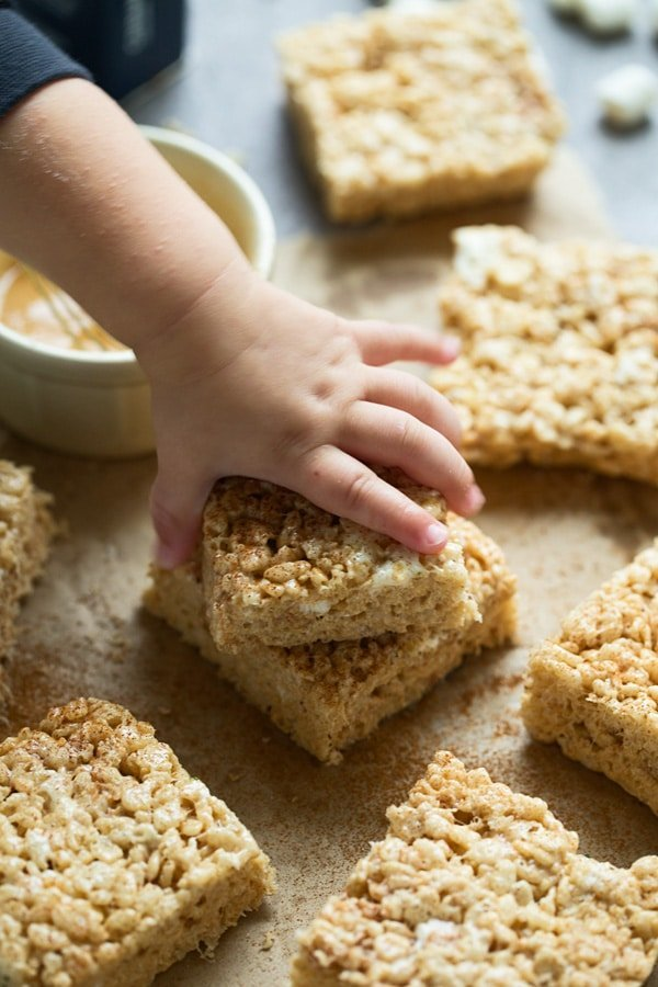 Brown Butter and White Chocolate Rice Krispie Treats