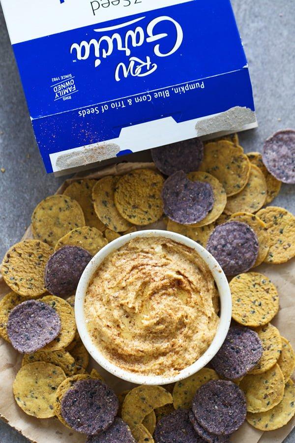 Butternut Squash Tahini Dip & RW Garcia Crackers