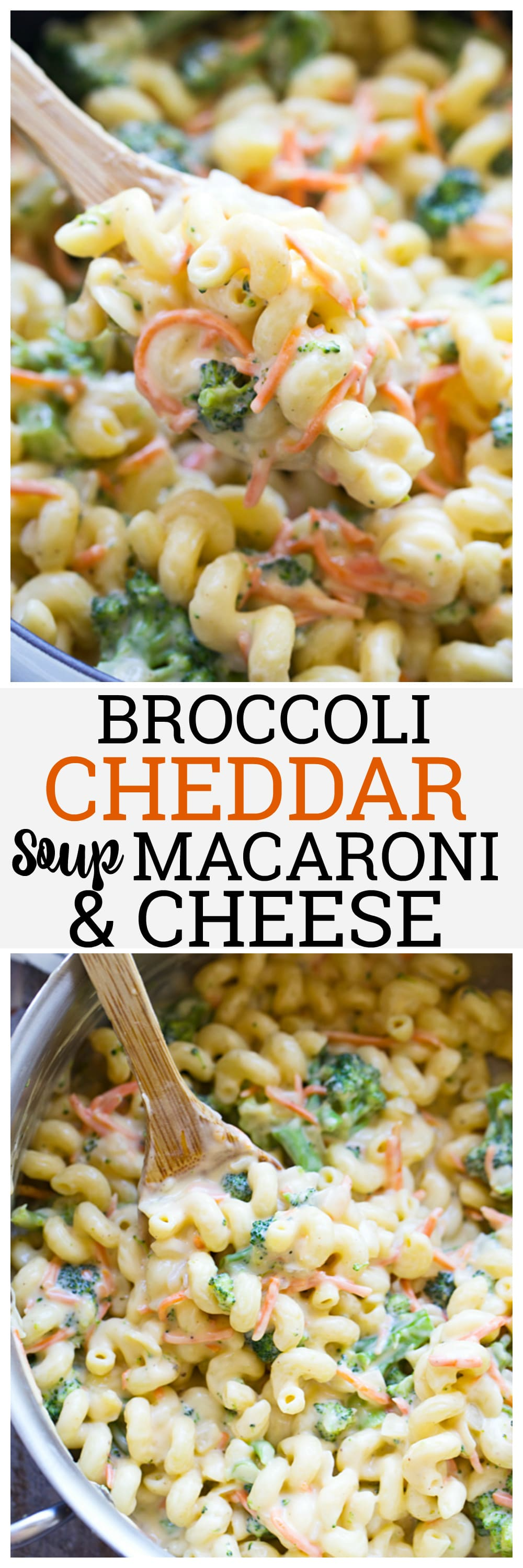 Broccoli Cheddar Soup Mac and Cheese - Your favorite cheesy broccoli soup in mac and cheese form!