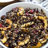 Wild Rice & Delicata Squash with Brown Butter Vinaigrette