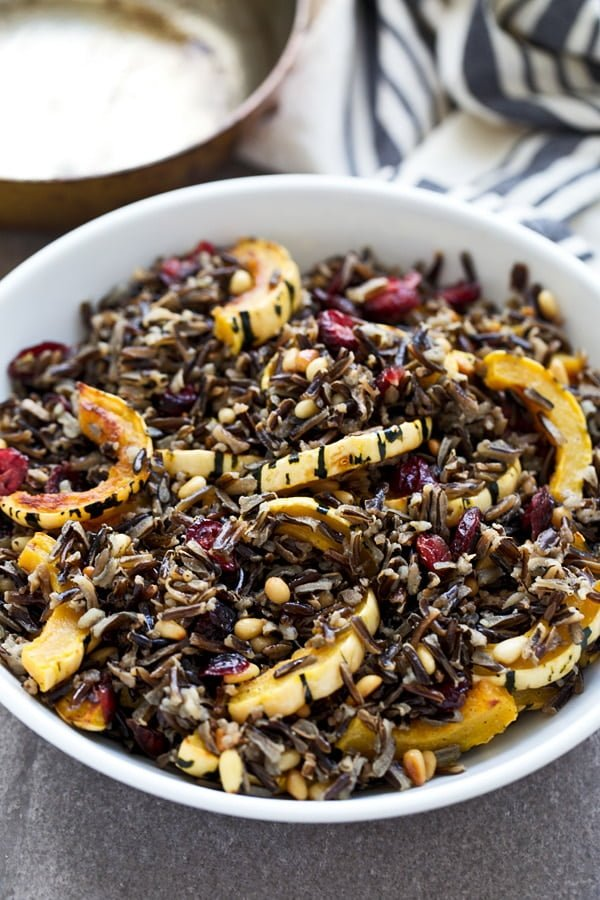 Wild Rice & Delicata Squash with Brown Butter Vinaigrette