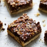 Chocolate Pecan Pie Bars with Brown Butter