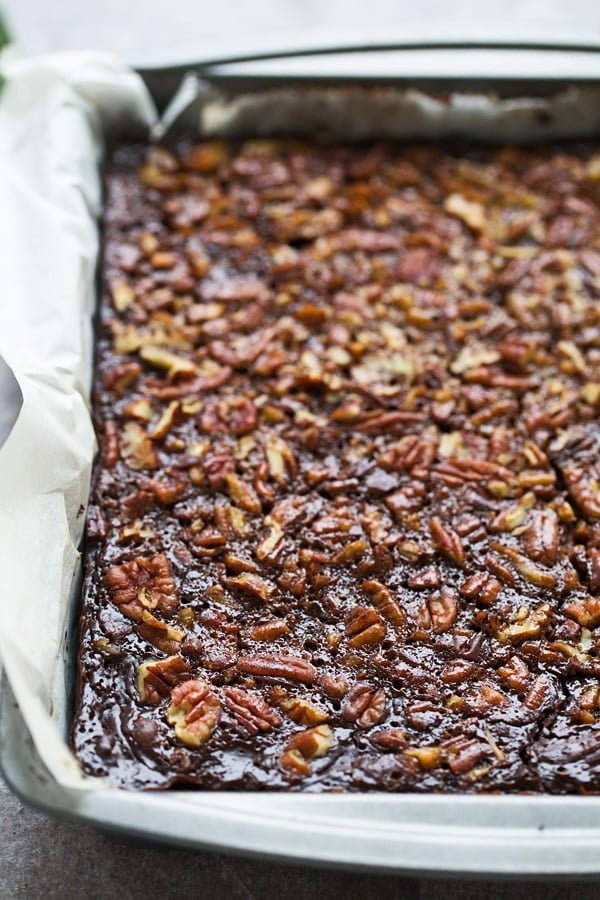Brown Butter Chocolate Pecan Bars