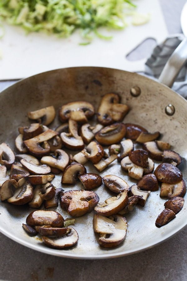 How to brown mushrooms