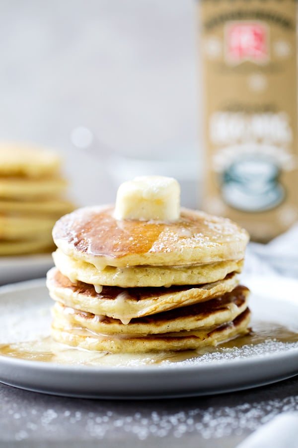 Eggnog Buttermilk Pancakes
