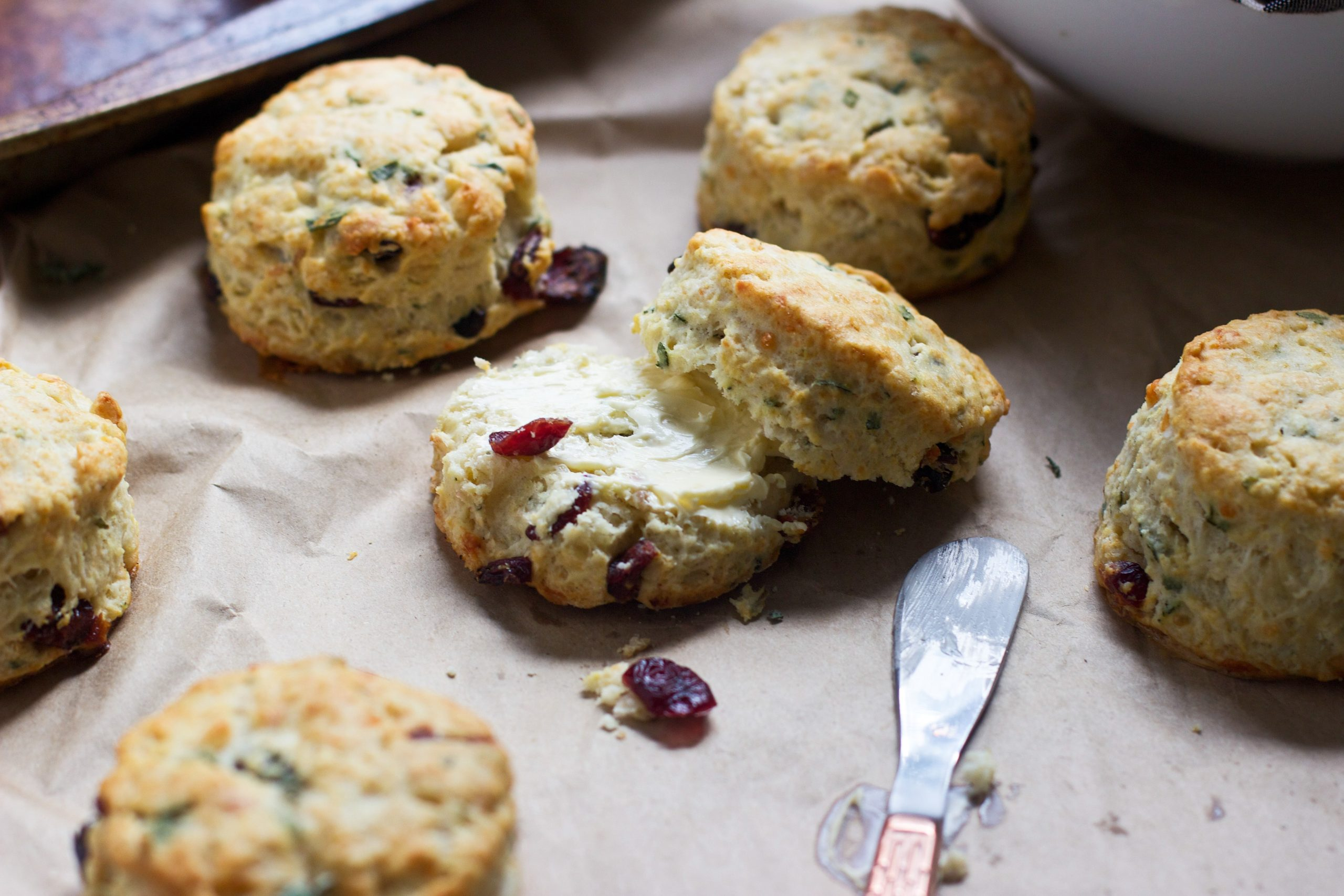 Gruyere and Cranberry Biscuits