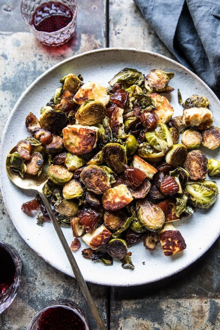 Pan-Roasted Brussels Sprouts with Dates