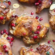 Sticky Pomegranate Chicken with Coconut Rice