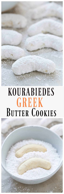 Kourabiedes (Greek Butter Cookies)