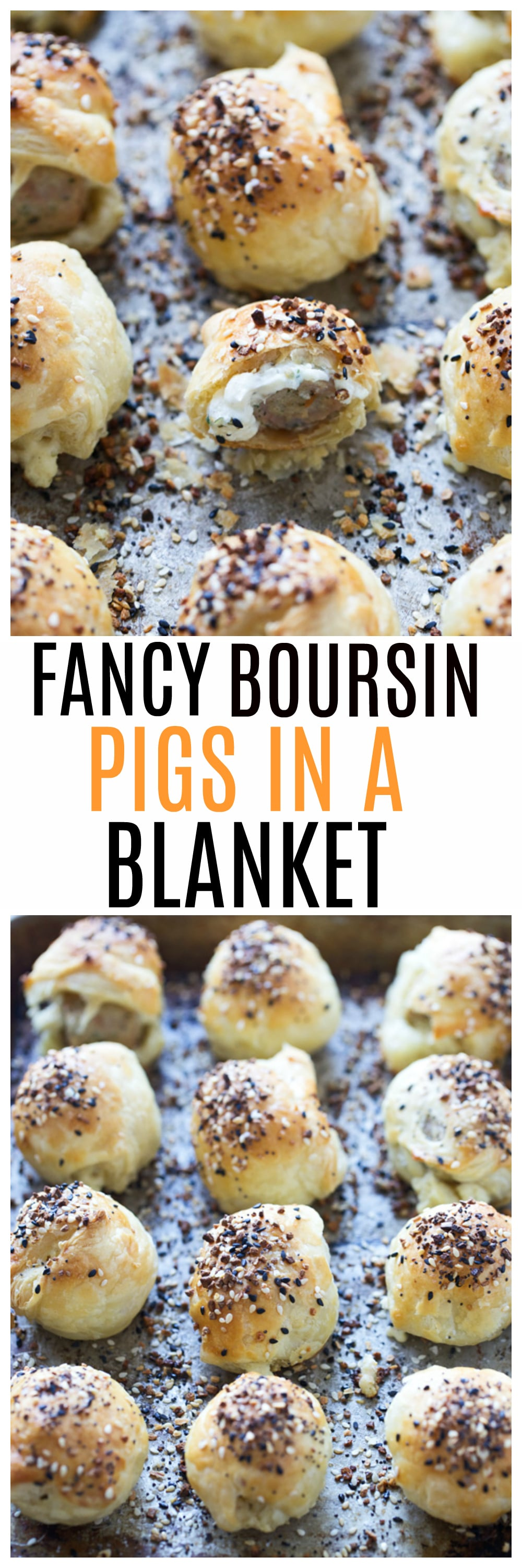 Fancy Boursin Pigs in a Blanket- Only five ingredients and so easy to throw together!