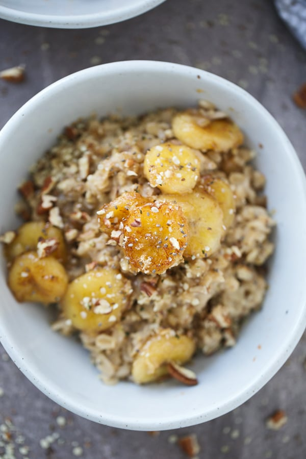 Bananas Foster Rolled Oats