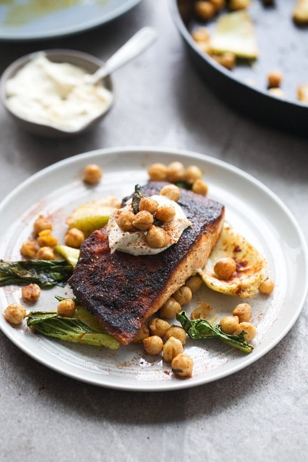 Blackened Salmon Tahini Sauce