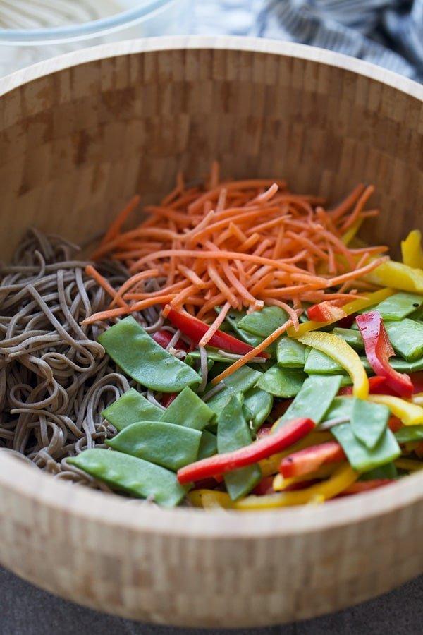 Tahini Veggie Soba Noodles