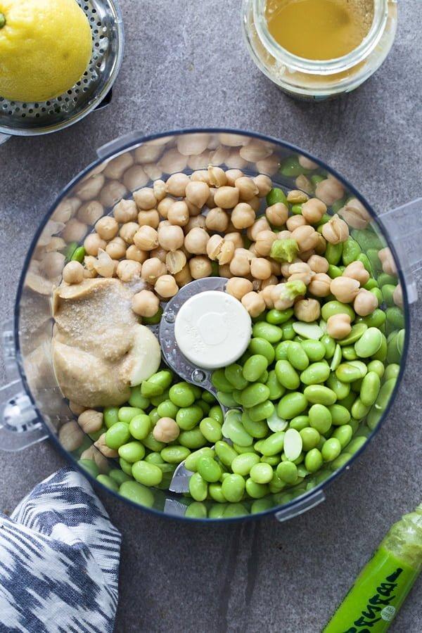 Wasabi Edamame Hummus