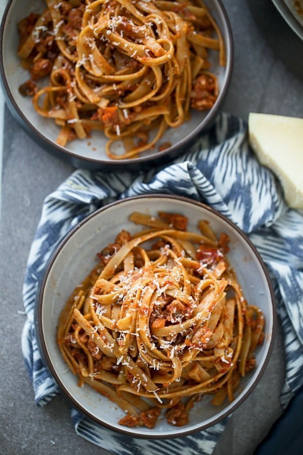Healthy Turkey and Mushroom Bolognese