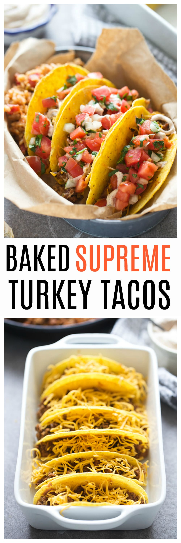 Baked Supreme Turkey Tacos