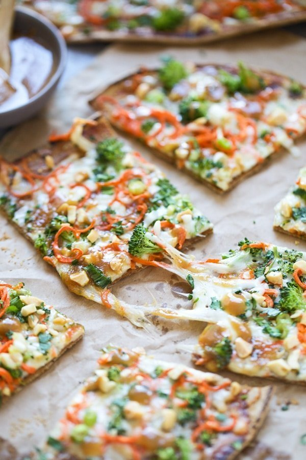 Thai Veggie Flatbreads