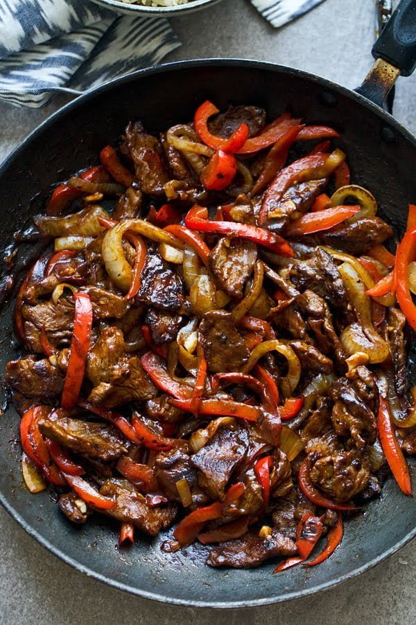 Curry Beef & Pepper Stir Fry