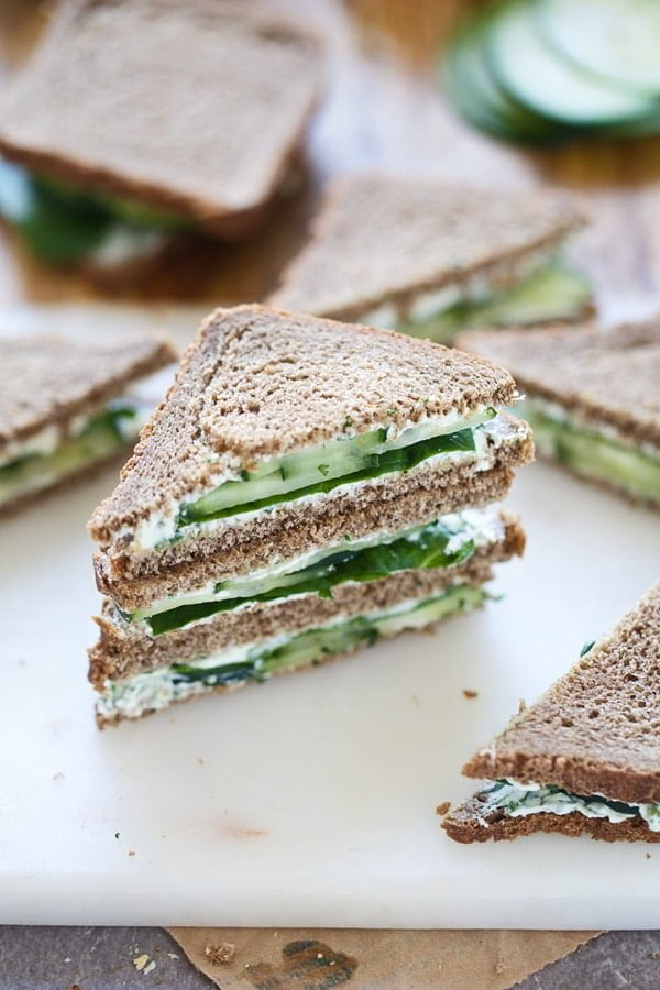 Green Goddess Tea Sandwiches