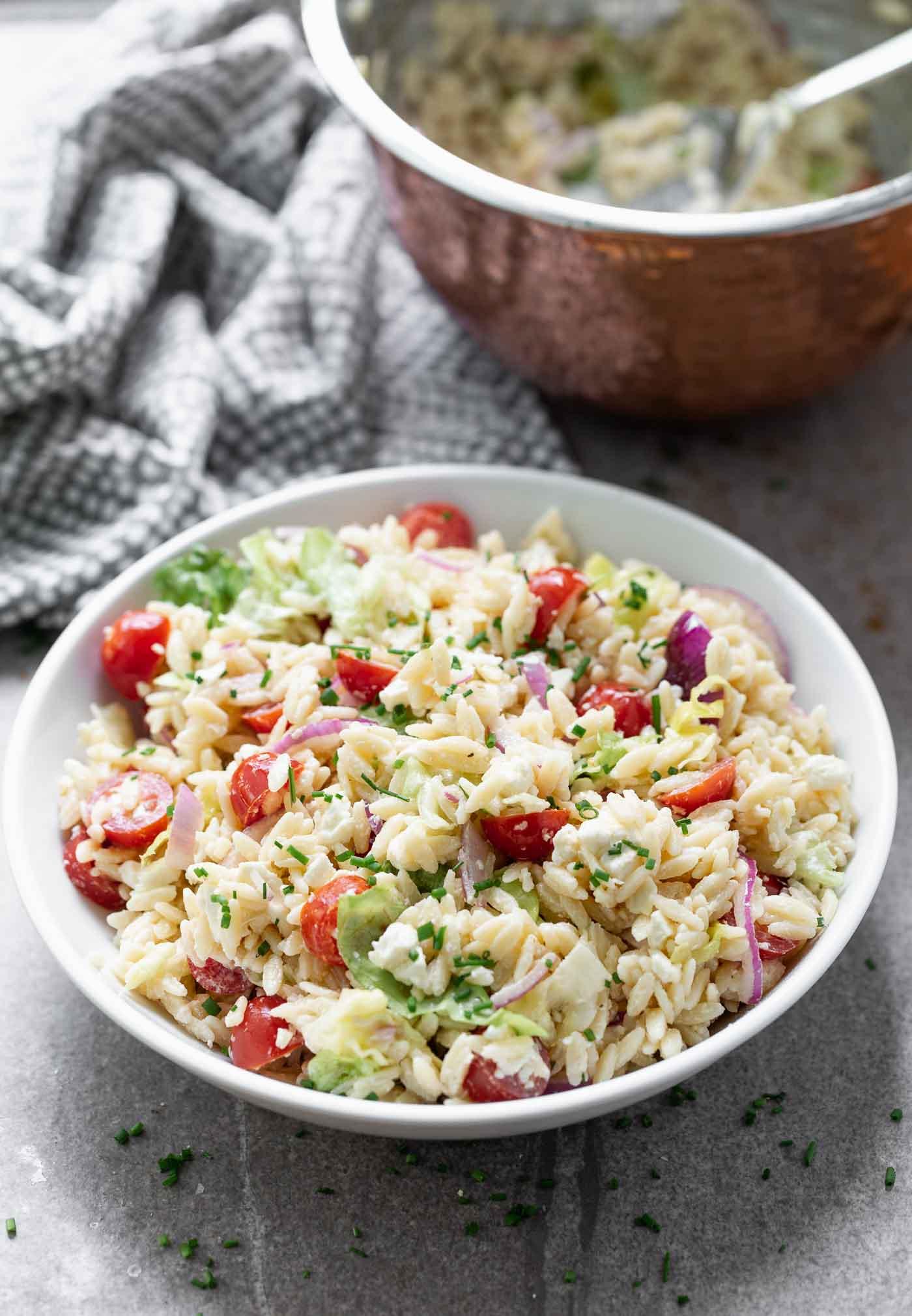 Feta Caesar Pasta Salad