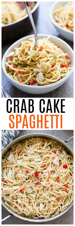 Crab Cake Spaghetti