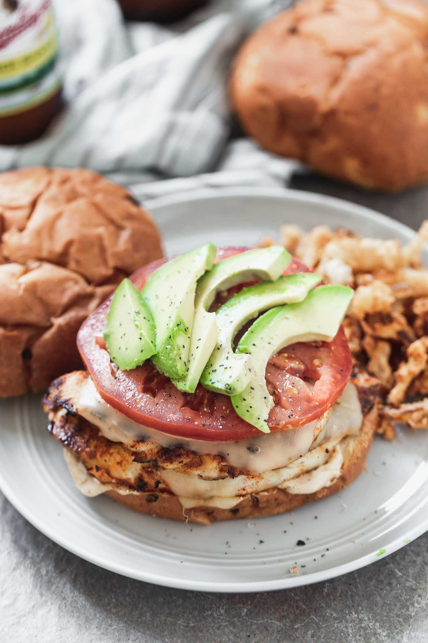 Blackened Chicken Sandwiches with Chipotle Mayo and Gouda