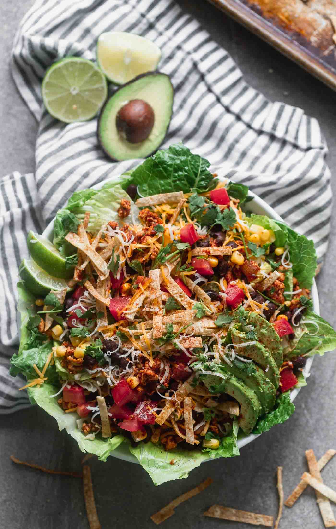 Chicken Enchilada Taco Salad