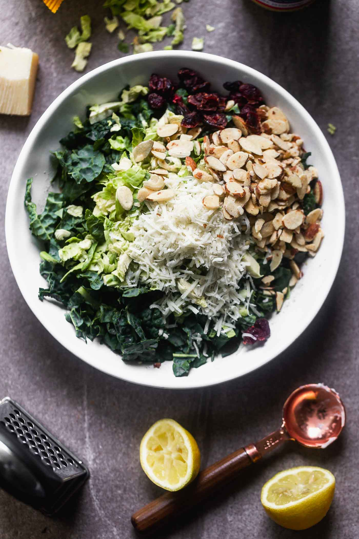 Everyday Kale and Brussels Sprout Salad