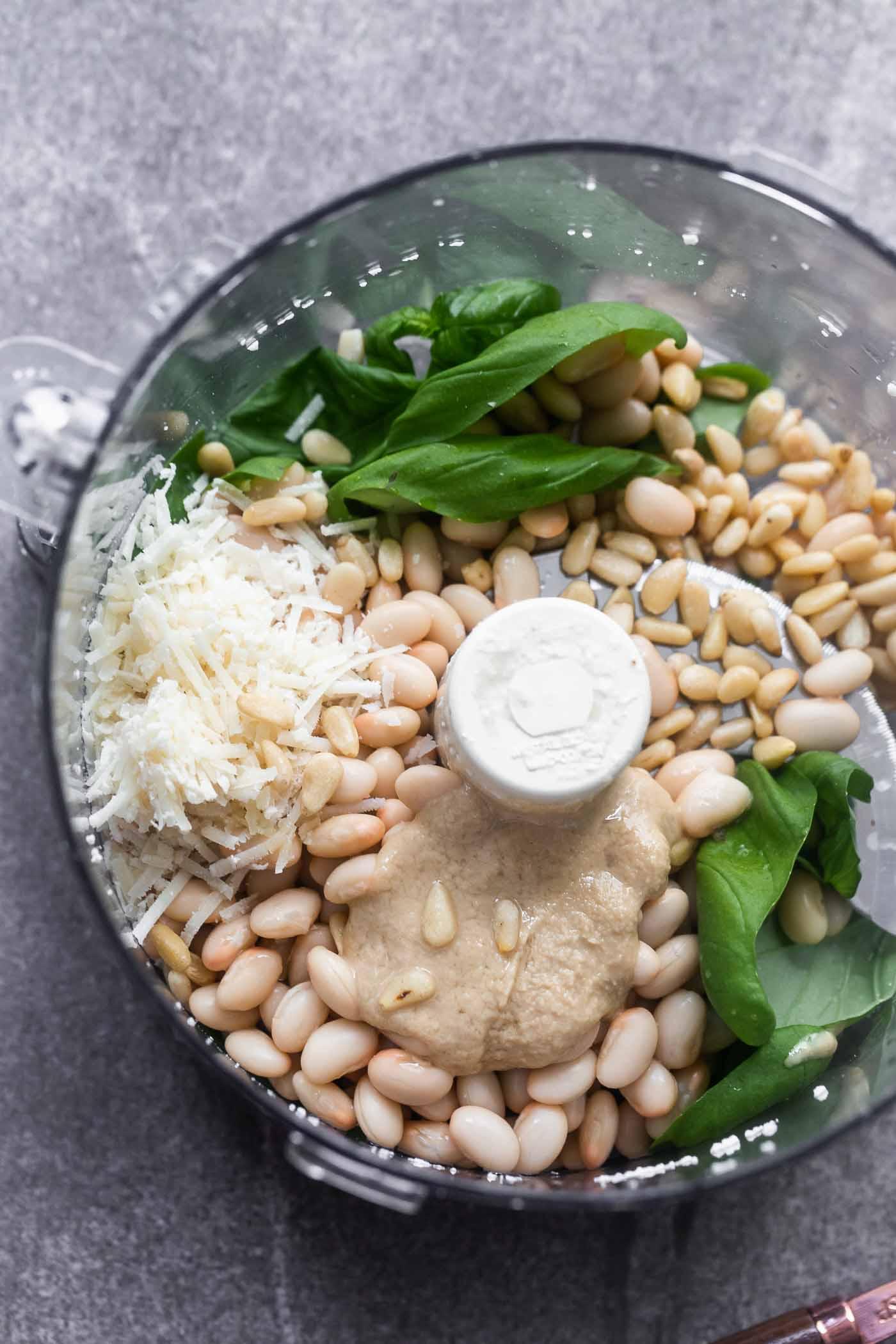 Pesto White Bean Hummus
