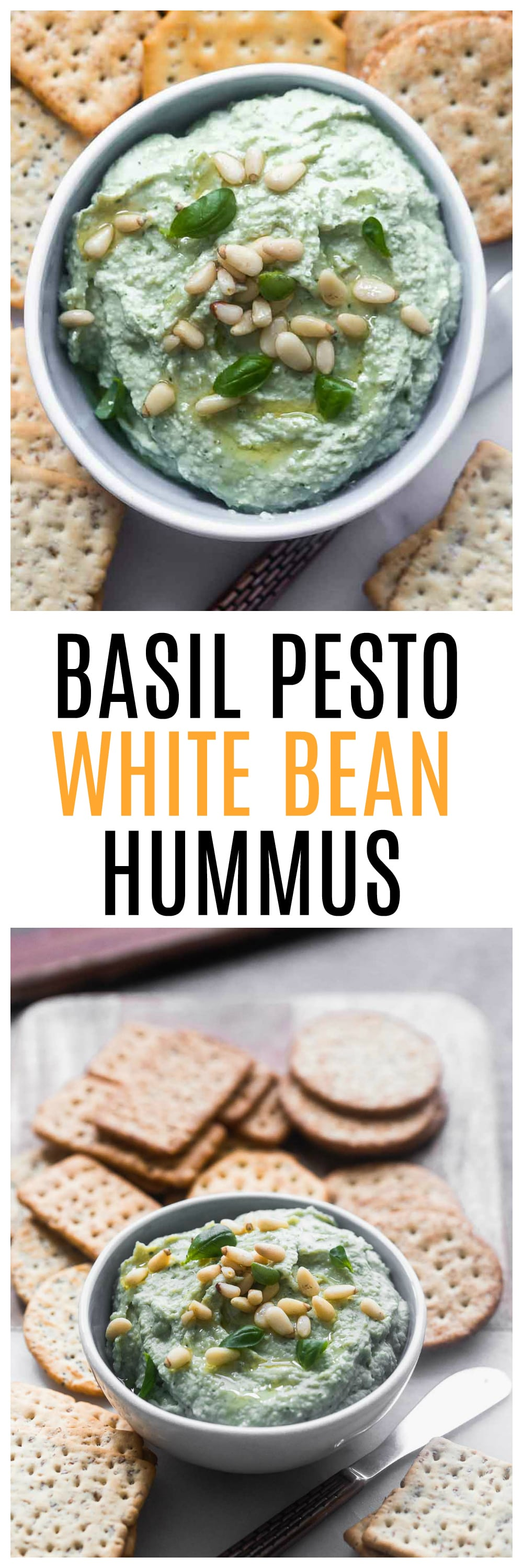 Pesto White Bean Hummus