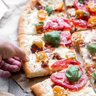 Ricotta Pizza with Bacon and Tomatoes