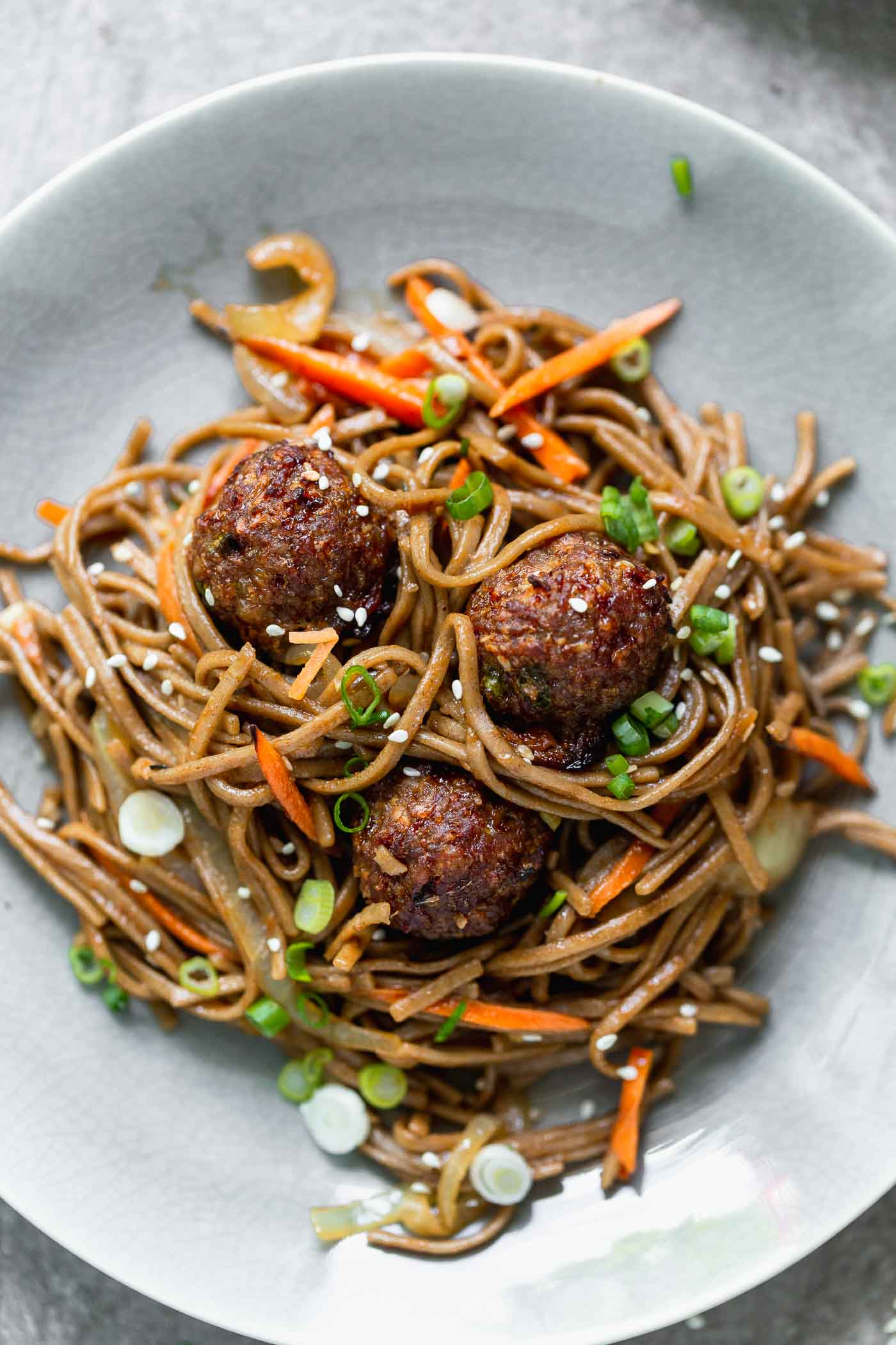 Asian Spaghetti and Meatballs