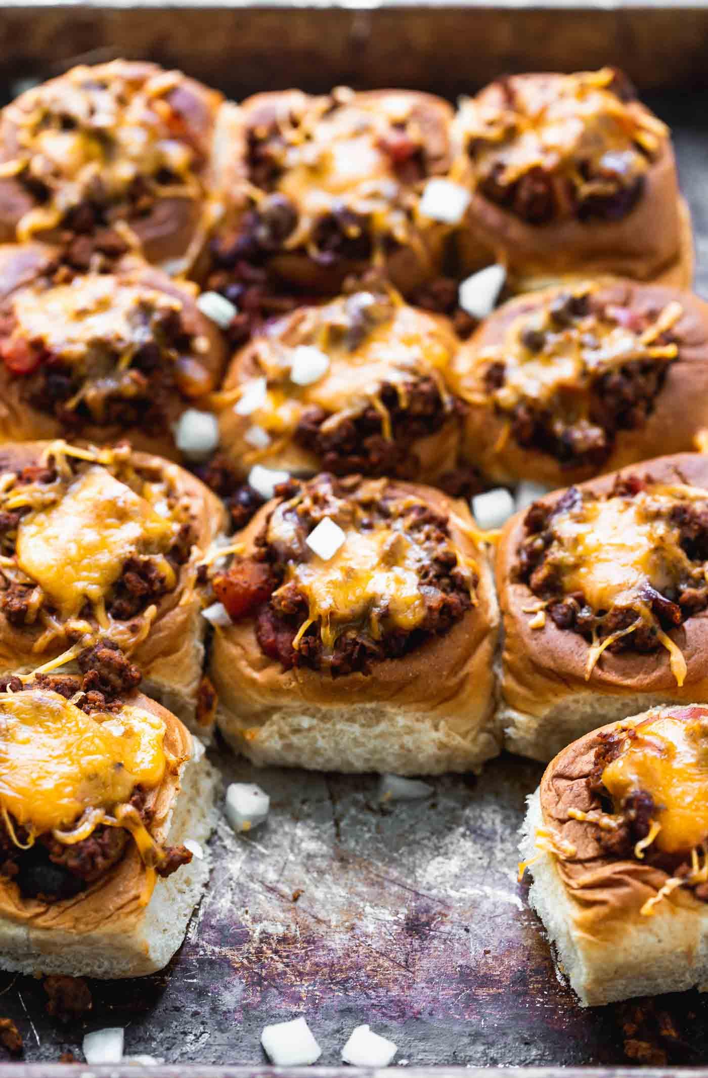 Mini Chili Cheese Dogs