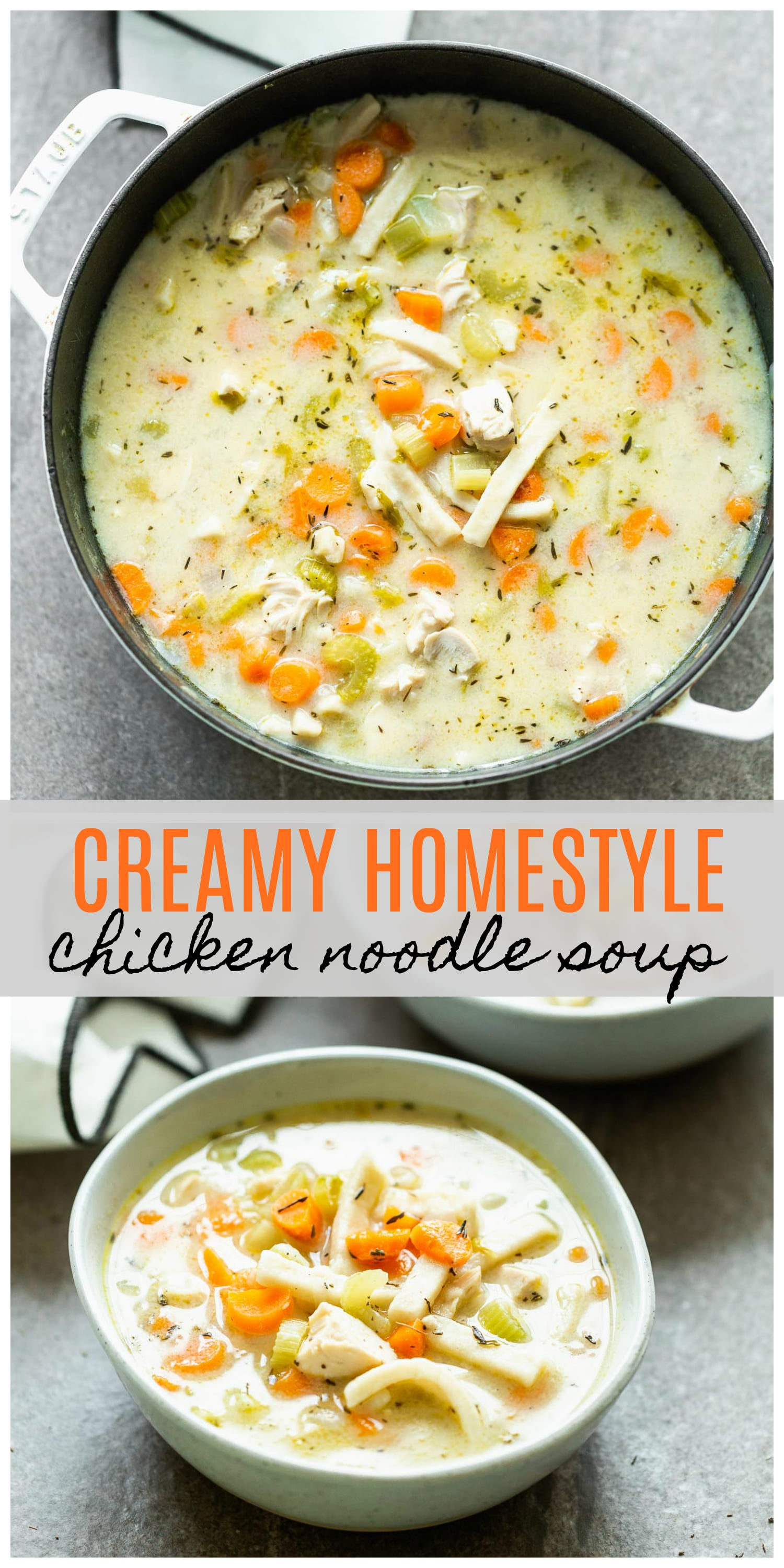 Creamy Homestyle Chicken Noodle Soup