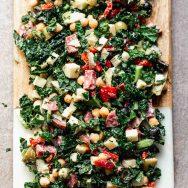 Easy Antipasto Kale Salad