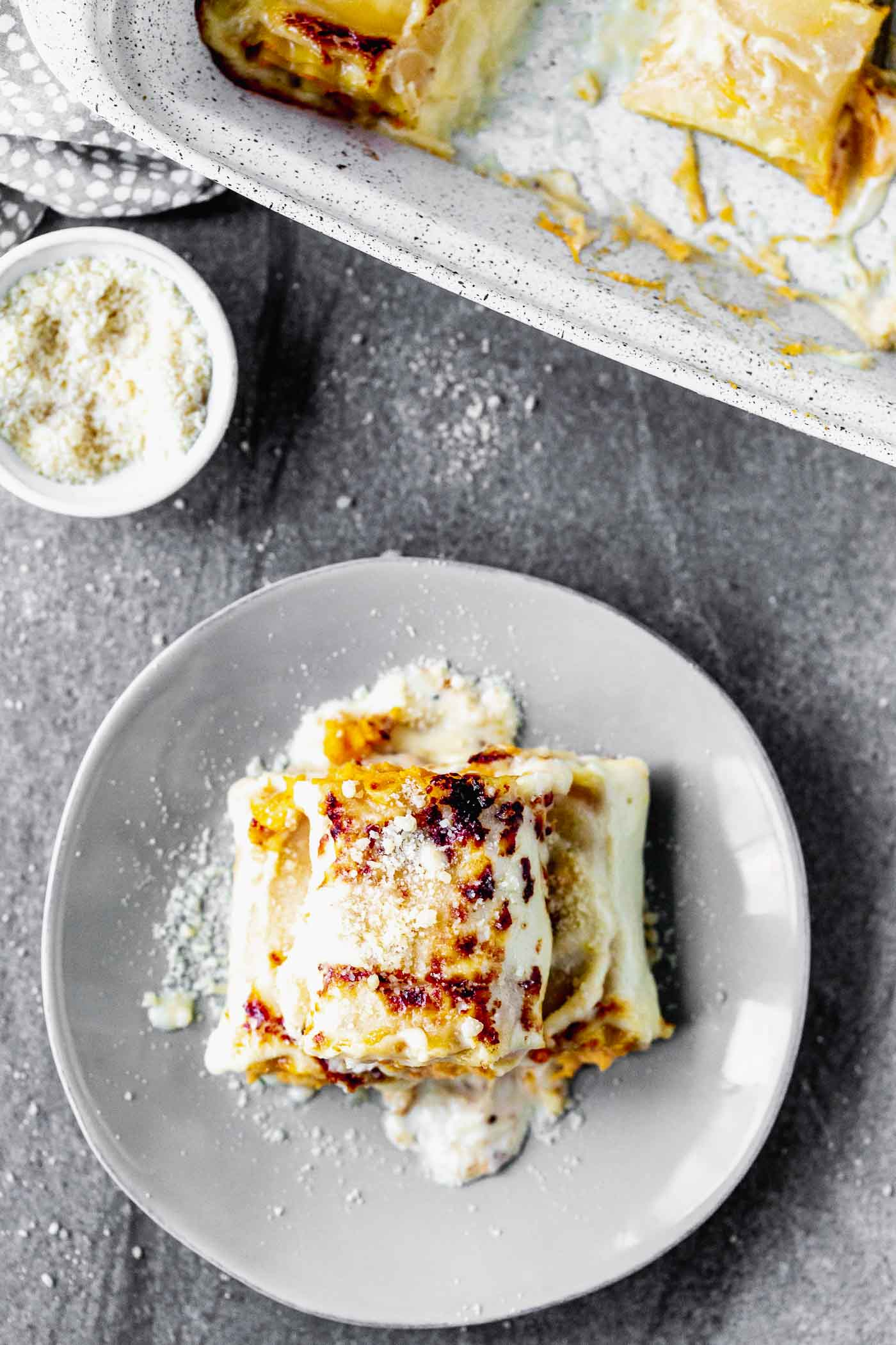 Butternut Squash Lasagna Rolls are cozy, rich and oh-so delicious. With only six ingredients, they're a cinch to throw together, and sure to impress a crowd.