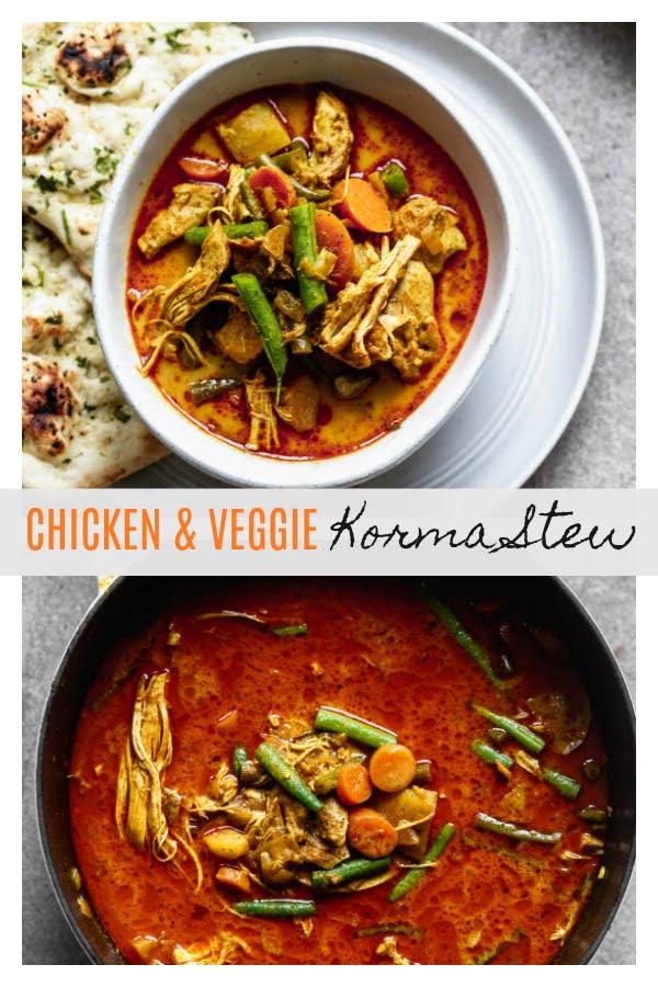 Chicken and Veggie Korma Stew