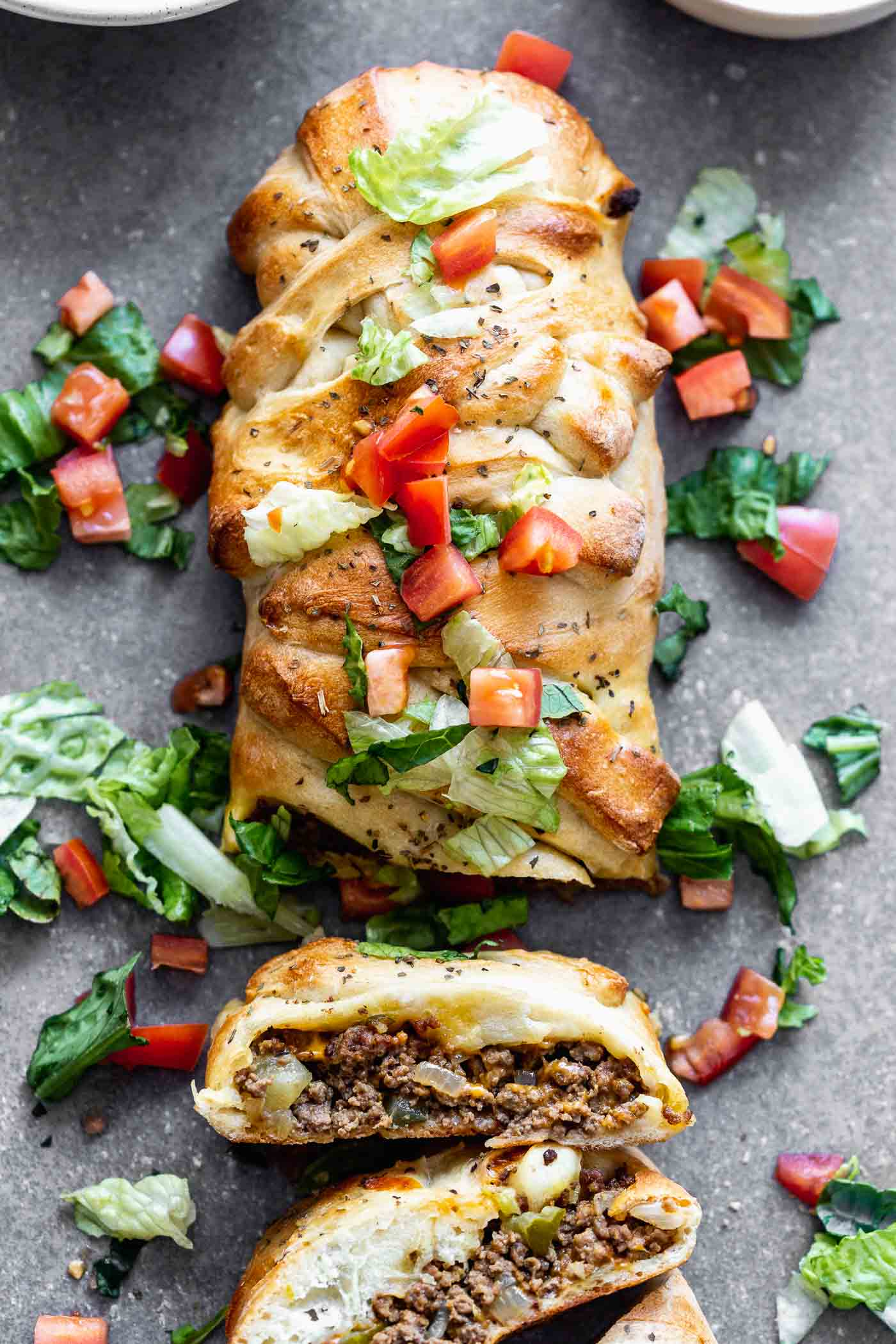 Cheeseburger Stromboli