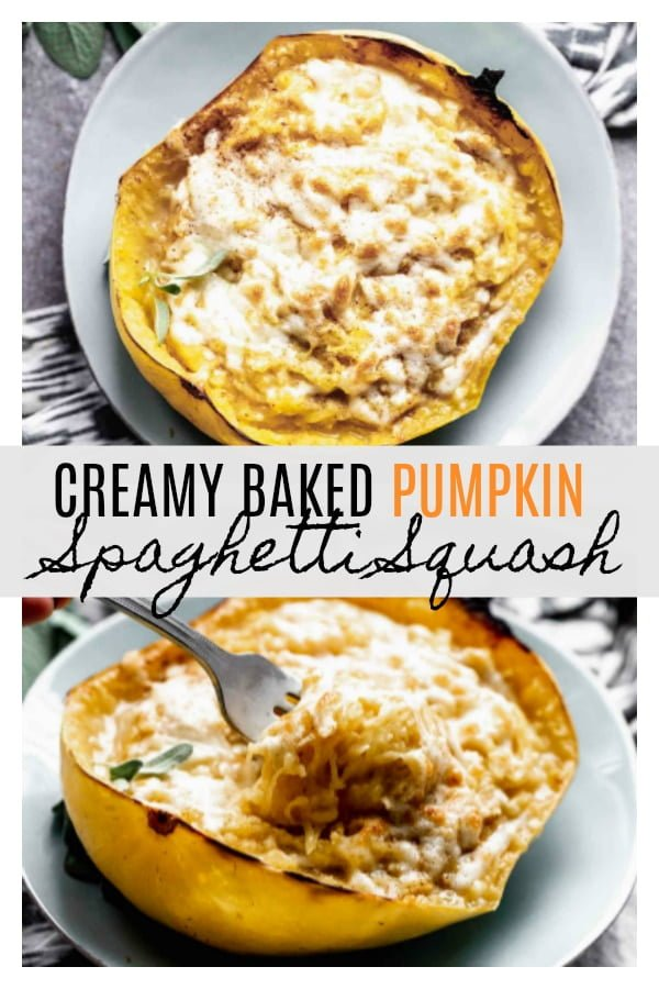 Creamy Pumpkin Spaghetti Squash
