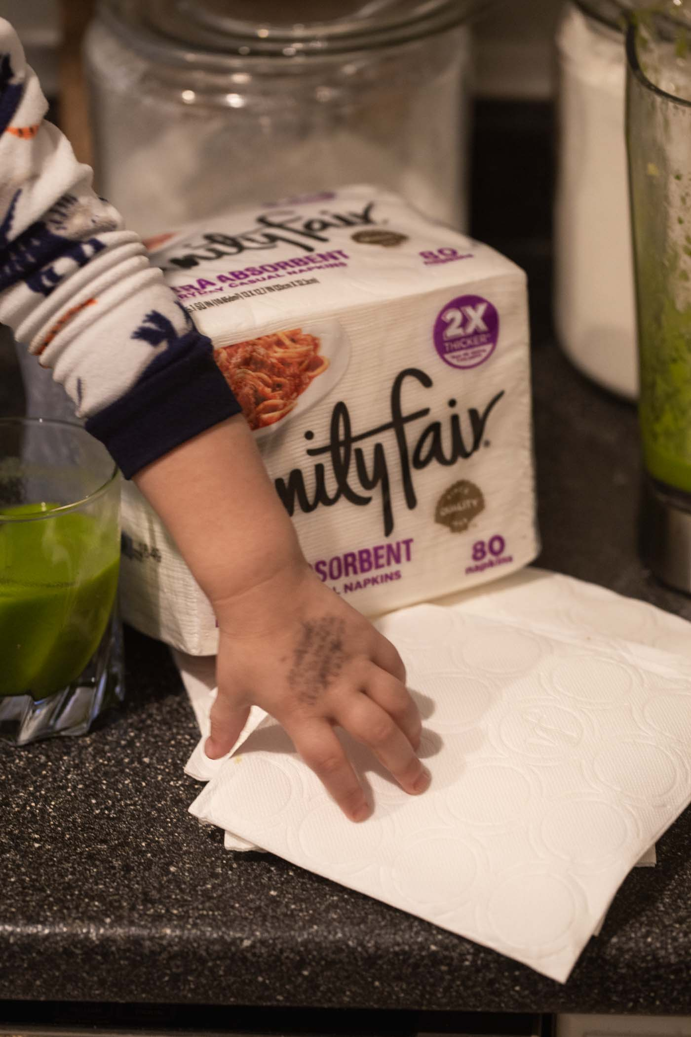 Vanity Fair Napkins and Our Favorite Green Smoothie