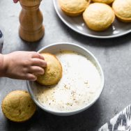 Creamy Potato Soup and Easy Cornbread Muffins