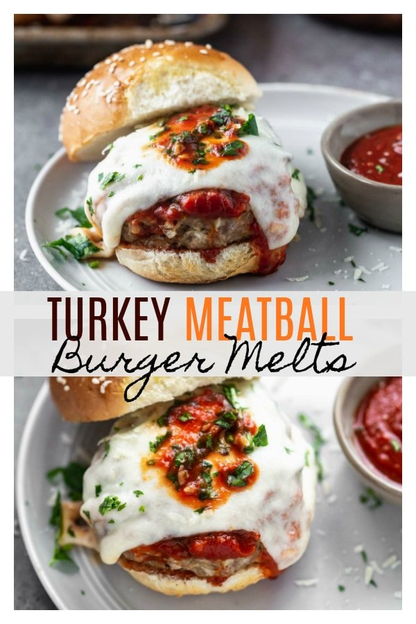 Turkey Meatball Burger Melts are basically a tender, moist, and FLAVORFUL meatball transformed into a burger. The