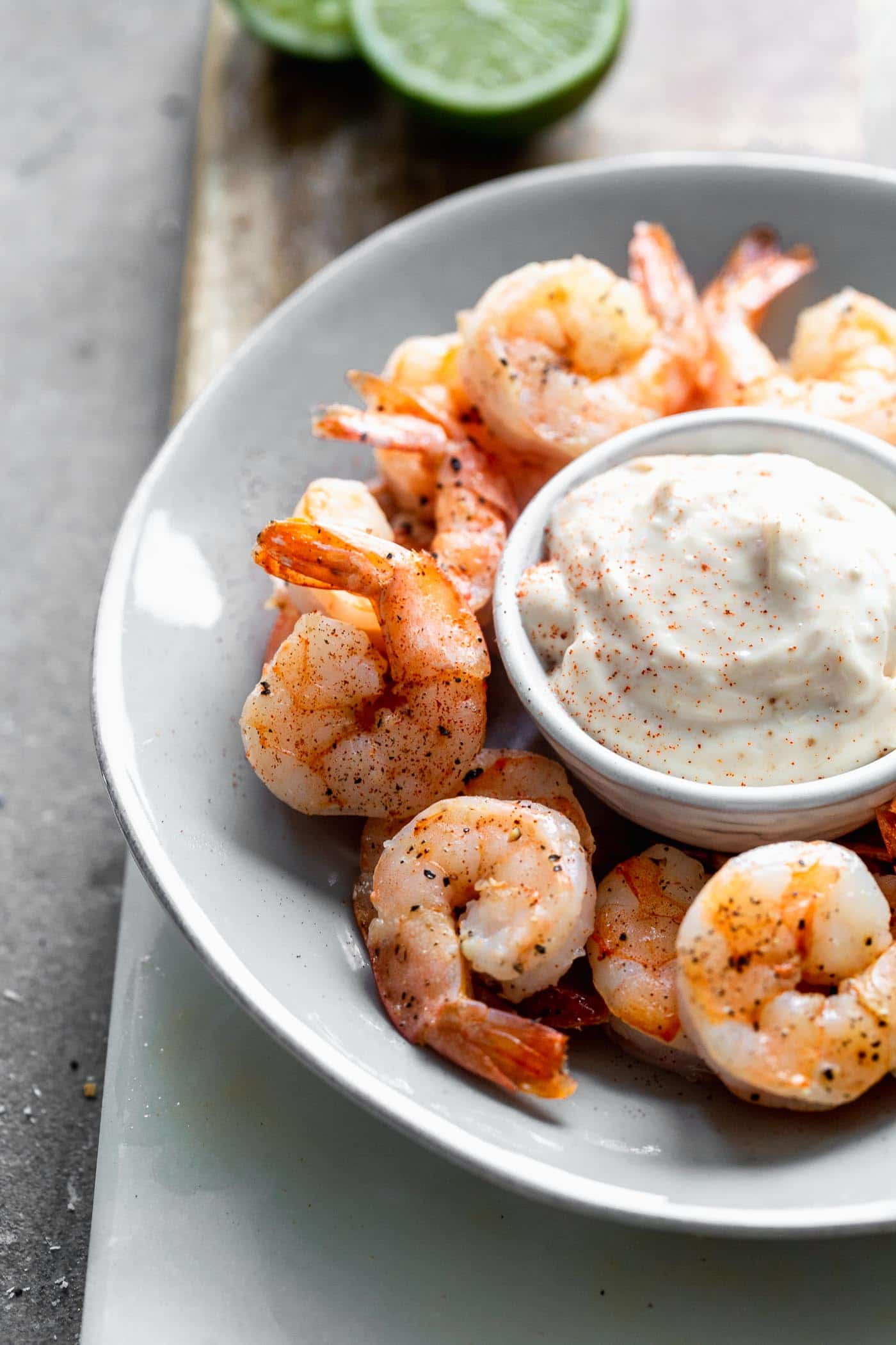 Roasted Shrimp Cocktail with Chipotle Aioli