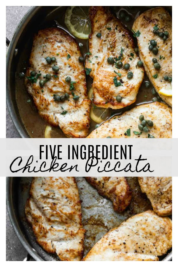 This Five Ingredient Chicken Piccata takes virtually no time to throw together, and packs a TON of flavor. Perfect for busy weeknight!
