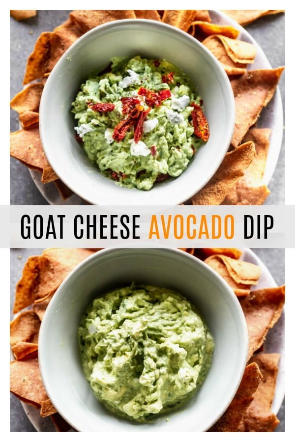 This Avocado Goat Cheese Dip is basically a fancy version of a classic guacamole, which we all love. With only four ingredients, it's also SO easy and inexpensive to throw together. Perfect for any occasion.